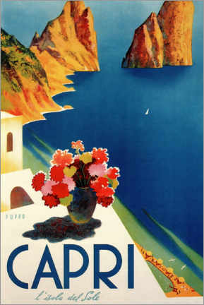 Hartschaumbild  Italien ? Sommerinsel Capri - Travel Collection