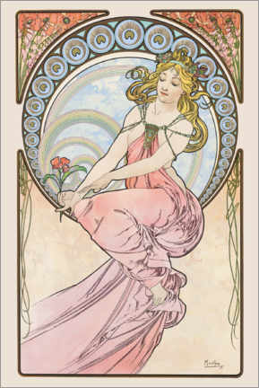 Premium-Poster  The Arts ? Painting - Alfons Mucha