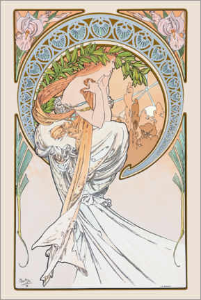 Premium-Poster  The Arts ? Poetry - Alfons Mucha