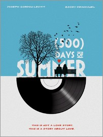 Golden Planet Prints - 500 days of summer movie inspired illustration