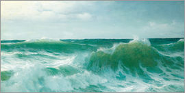 David James - A breaking wave, 1894