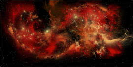 Corey Ford - A large red nebula covering a huge region of space.