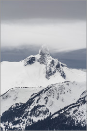Paul Porter - A view of Black Tusk from the peak of Whistler Mountain, British Columbia, Canada, North America