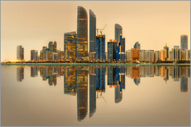 Abu Dhabi skyline at sunrise