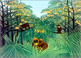 Henri Rousseau - Monkey in the jungle