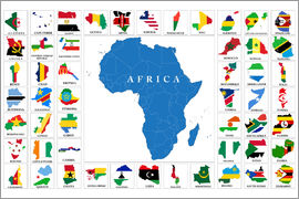 African Countries with Flags