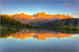Michael Valjak - Alpenglow on the rose garden in the Dolomites in South Tyrol