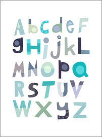 Jaysanstudio - Alphabet in Blau