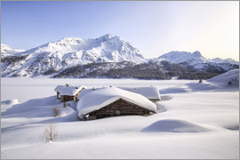 Roberto Sysa Moiola - Alpine huts covered with snow, Splüga, Switzerland