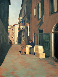 Felix Edouard Vallotton - Alte Strasse in Nizza