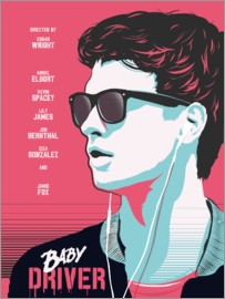 Golden Planet Prints - Alternative baby driver film art