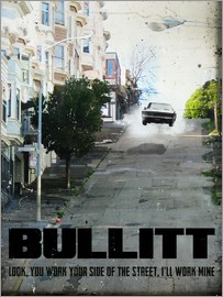 2ToastDesign - alternative bullitt retro movie poster