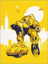 2ToastDesign - alternative retro transformers bumblebee  art