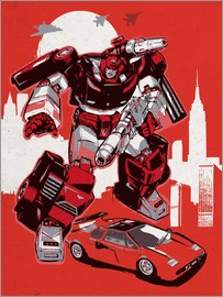 2ToastDesign - alternative sideswipe retro transformers art