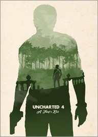 Golden Planet Prints - Alternative Uncharted 4 videogame art