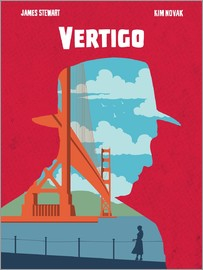 Golden Planet Prints - Alternative Vertigo movie art