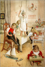 Carl Larsson - On the morning of Christmas Day