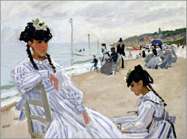 Claude Monet - Am Strand in Trouville