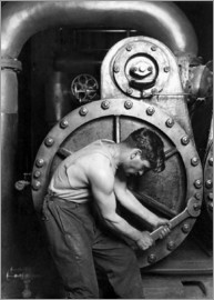 John Parrot - American History photo of a power house mechanic working on a steam pump