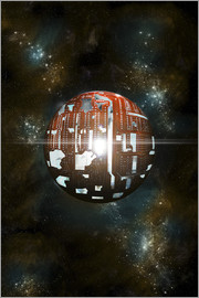 Marc Ward - An artist's depiction of a theoretical Dyson sphere.