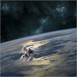 Marc Ward - An astronaut floating above Earth.