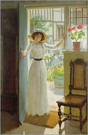 William Henry Margetson - An der Haustür
