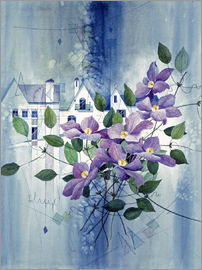 Franz Heigl - View with clematis