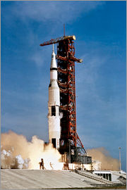 Stocktrek Images - Apollo 11 space vehicle taking off from Kennedy Space Center.