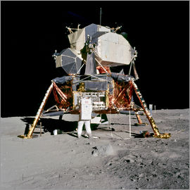 Apollo 11 Astronaut and Edwin Aldrin on the Moon
