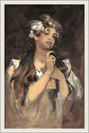 Alfons Mucha - Watercolor, gouache and pencil