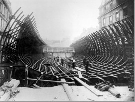 Work on the Paris Metro at Place Saint-Michel