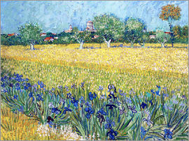 Vincent van Gogh - Arles with Irises flowers in the foreground