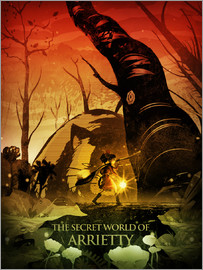 Albert Cagnef - Arrietty Color  Poster Lounge