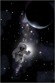 Marc Ward - Artist's concept of an astronaut floating in outer space.