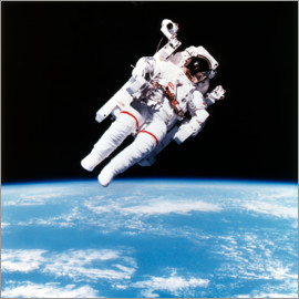 Astronaut Bruce McCandless with Propeller Backpack