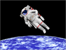 Elena Duvernay - Astronaut floating in outer space above planet Earth.