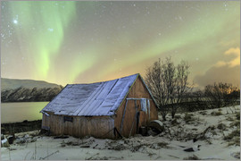 Roberto Sysa Moiola - Aurora Borealis on typical Rorbu, Svensby, Norway