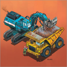 Helmut Kollars - Excavator and trucks