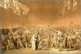 Jacques-Louis David - Ballhausschwur am 20.6.1789