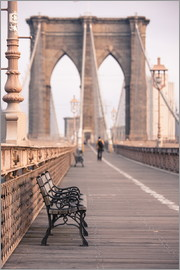 Amanda Hall - Bank auf der Brooklyn Bridge