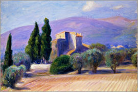William James Glackens - Bauernhaus in der Provence