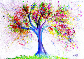 M. Bleichner - Tree of Life Aquarell