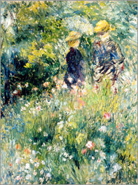 Pierre-Auguste Renoir - Meeting in the rose garden