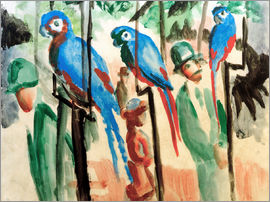 August Macke - Bei den Papageien