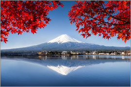 Jan Christopher Becke - Berg Fuji am See Kawaguchiko in Japan