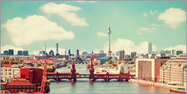bildpics - Berlin Skyline retro