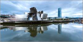 Matteo Colombo - Famous Guggenheim museum of Bilbao reflected in the river, Spain