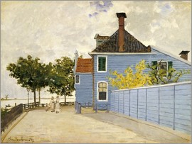 Claude Monet - Blaues Haus in Zaandam