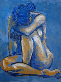 Carmen Tyrrell - Blue Heart - Female Nude