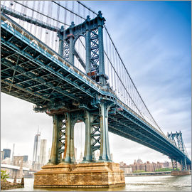 Blick auf Manhattan Bridge - New York City